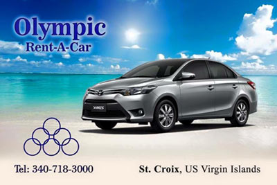 Olympic Rent a Car st croix scuba virgin islands caribbean